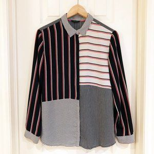 RW&CO Multi Striped Women's Button Up Shirt